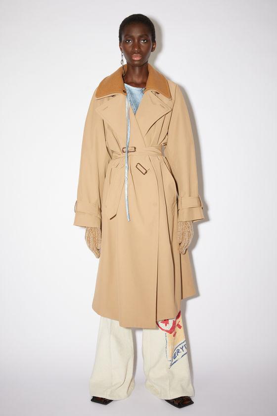 아크네 스튜디오 트렌치 코트 Acne Studios Lined trench coat - Camel brown