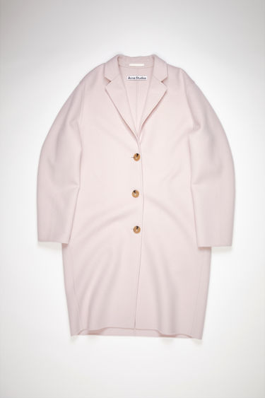 Acne Studios light purple single-breasted coat is made of wool with a classic fit.