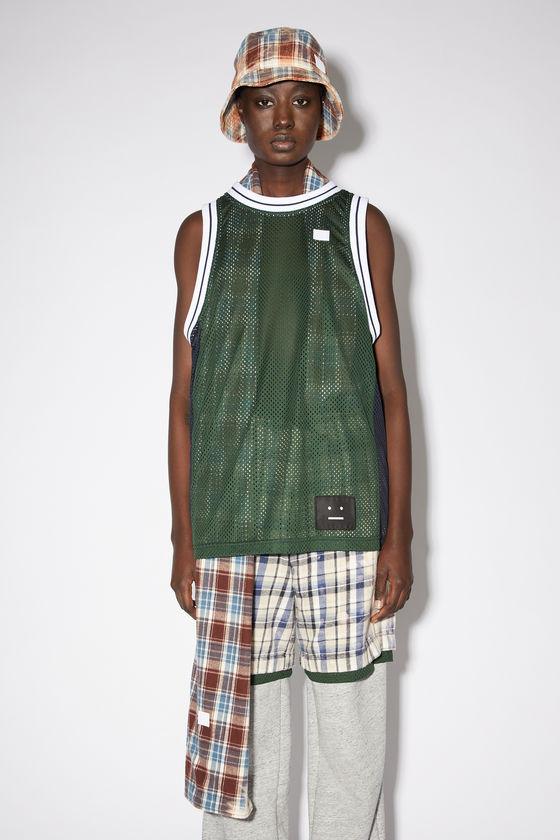 아크네 스튜디오 민소매티 Acne Studios Basketball jersey - Bottle green