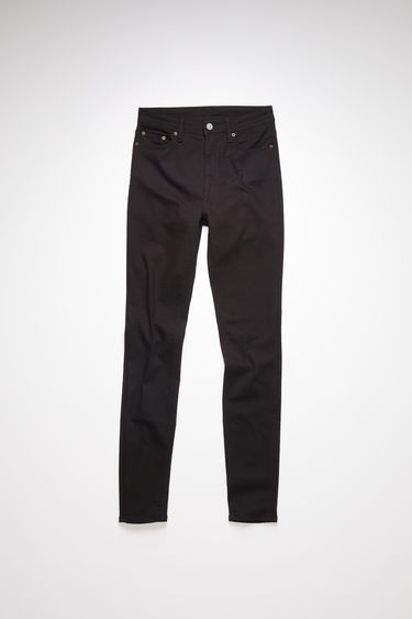 Acne Studios black jeans are made from super stretch denim with a high rise and a skinny leg.