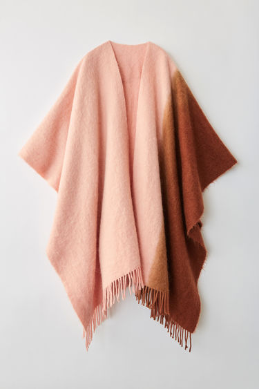 Accessories Kelow Dye Poncho Brown/pink 375x