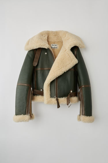 Ready-to-wear FN-WN-LEAT000028 Dk Hunter Green / Off-white 375x