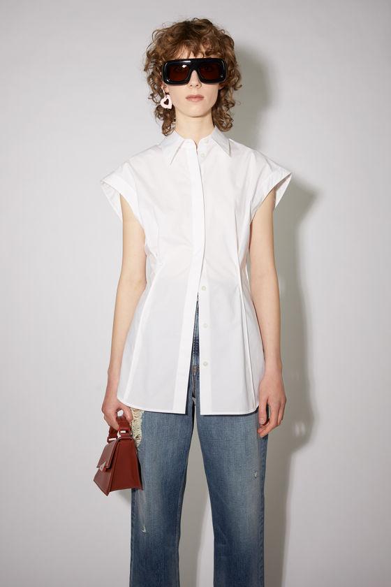 아크네 스튜디오 셔츠 Acne Studios Cotton button shirt - White