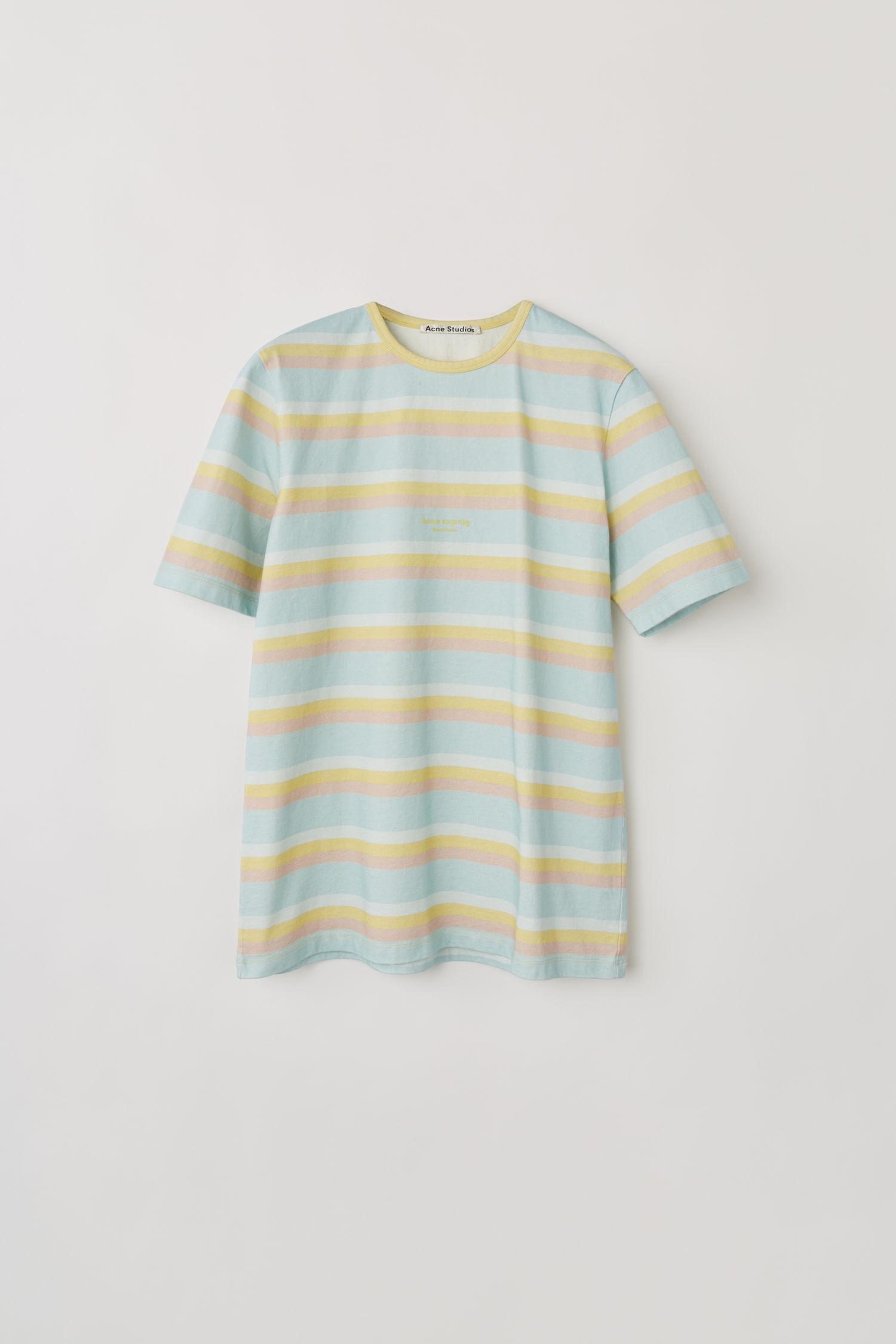 ACNE STUDIOS Pastel striped t-shirt blue/multi