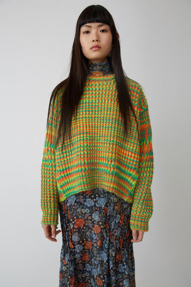 Acne Studios FN-WN-KNIT000007 Green/orange 375x