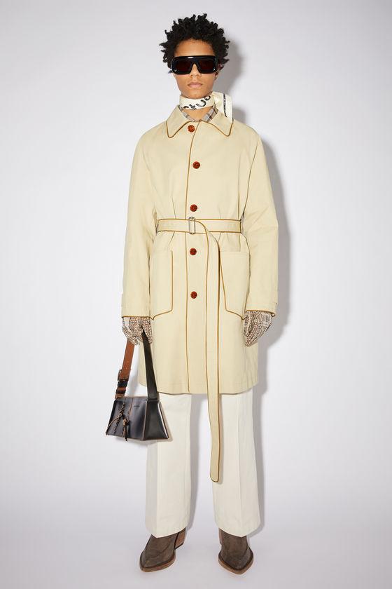 아크네 스튜디오 트렌치 코트 Acne Studios Belted trench coat - Beige