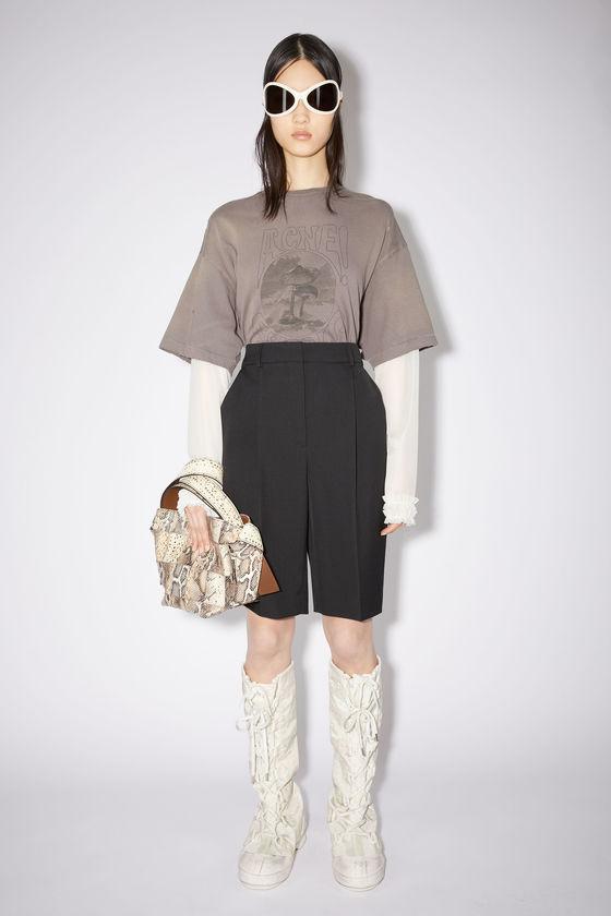 아크네 스튜디오 반바지 Acne Studios Pleated wool-blend shorts - Black