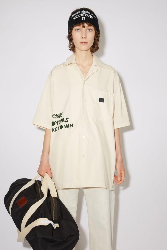 아크네 스튜디오 셔츠 Acne Studios Cotton poplin shirt - Oat beige