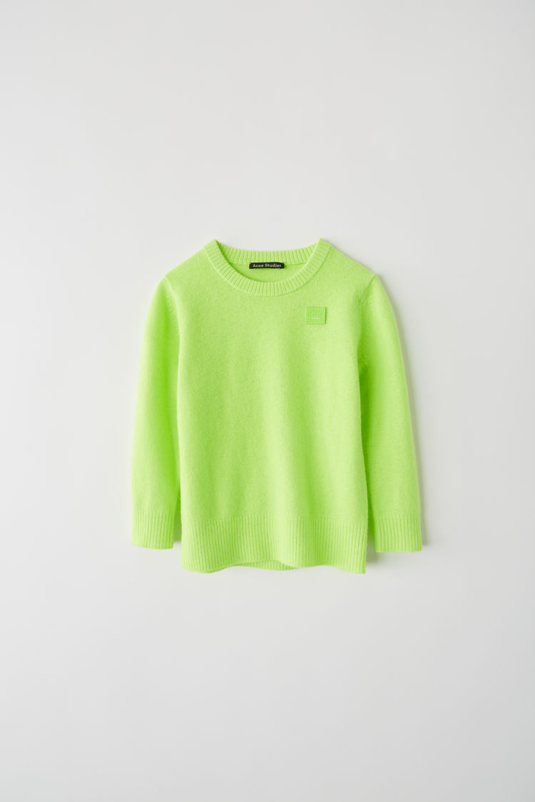 Crewneck Sweater Lime Green by Acne Studios