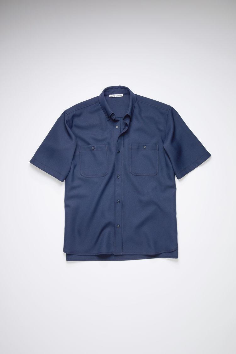 ACNE STUDIOS Clothing SHORT SLEEVE SHIRT SPRUCE BLUE