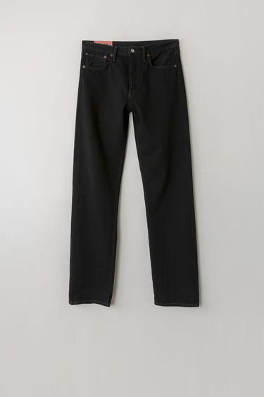 Acne Studios Blå Konst 1996 Black Overdye jeans are cut to sit high on the waist with a straight fit from the hips and finished with a classic five-pocket construction.
