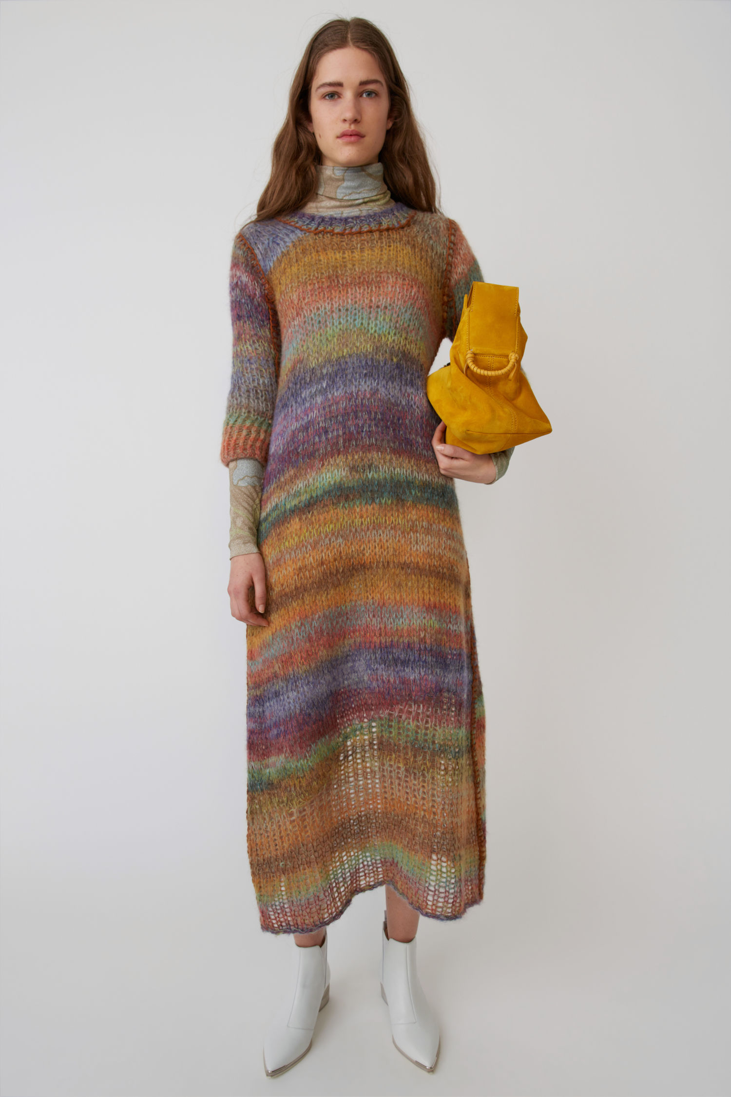 Losse Mohair And Alpaca-Blend Dress in Multi