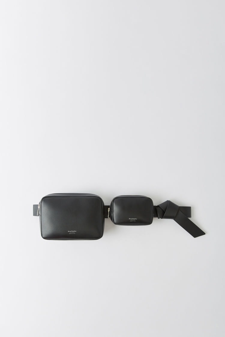 Belt Leather Bag Black by Acne Studios