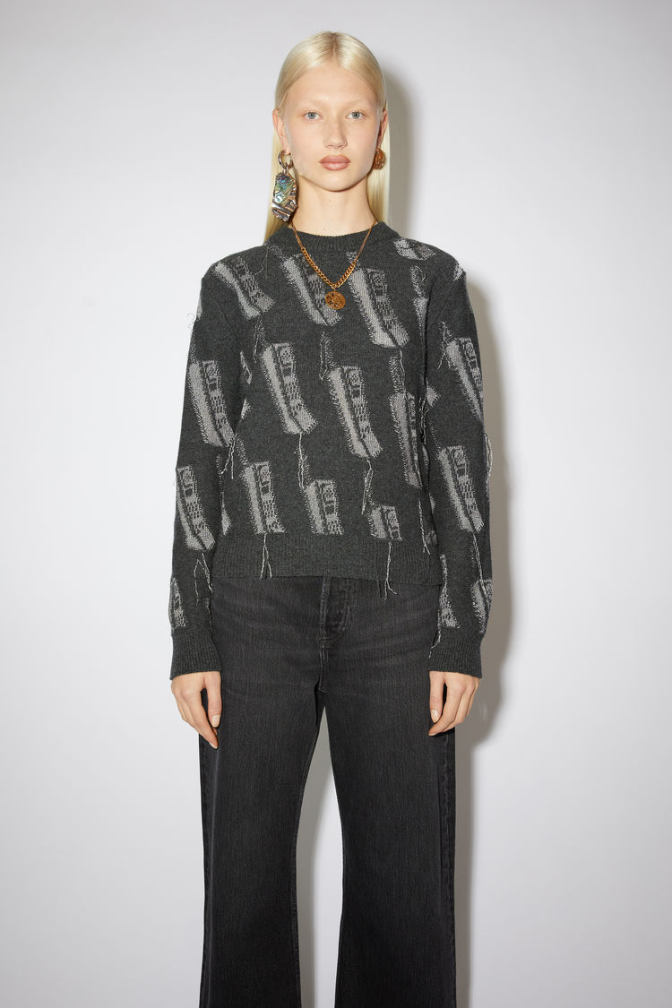 Acne Studios Sweaters Phone sweater Anthracite grey
