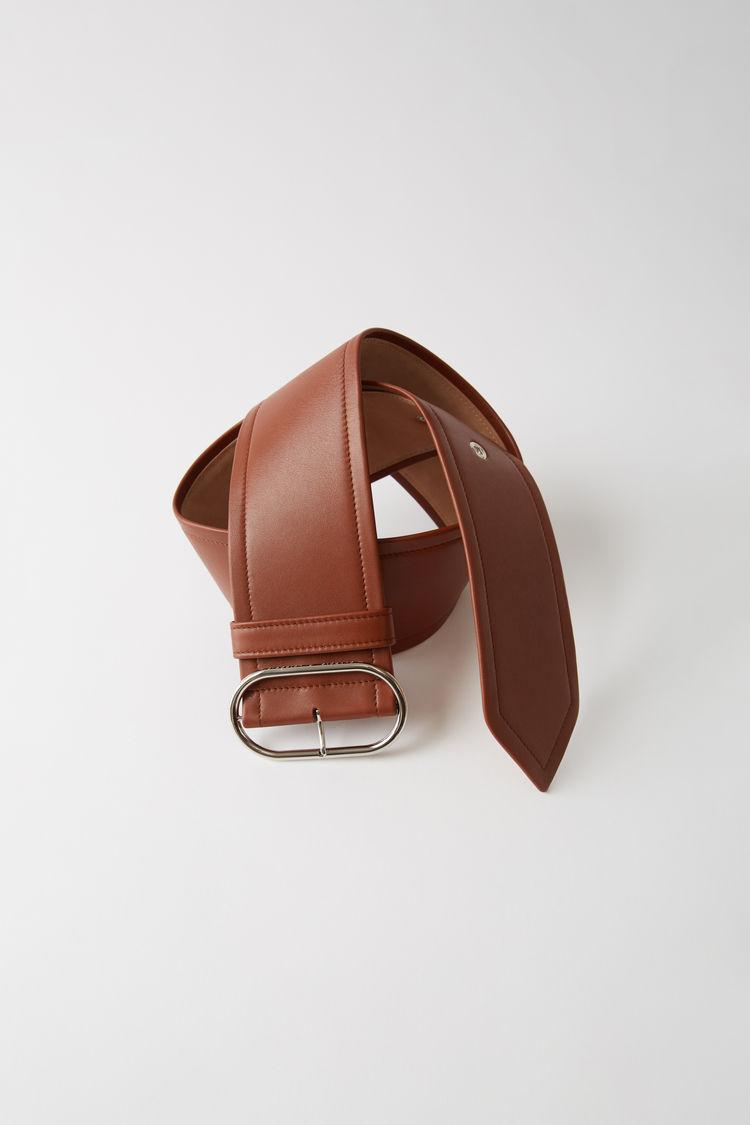 Leather Waist Belt Cognac Brown by Acne Studios
