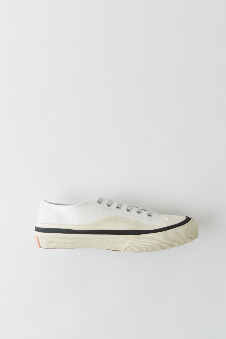 Canvas Sneakers White/White by Acne Studios