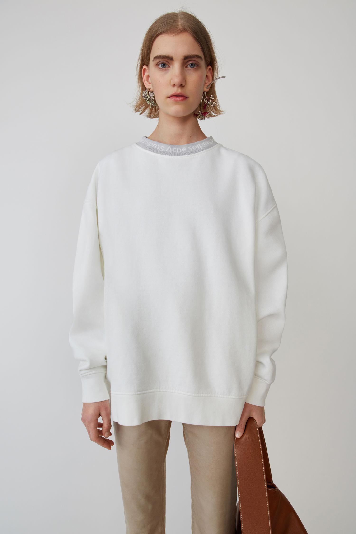 ACNE STUDIOS Voluminous sweatshirt optic white