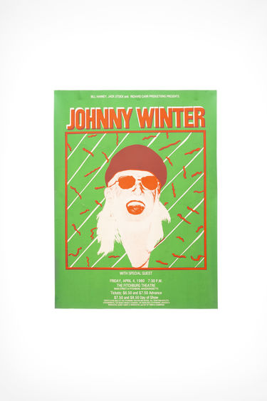 Johnny Winter Auction Johnny Winter Vintage 37 Green/red 375x