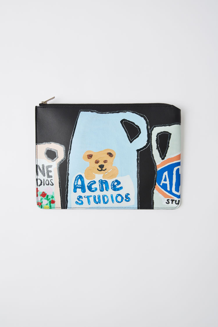 Ceramic Print Pouch Black by Acne Studios
