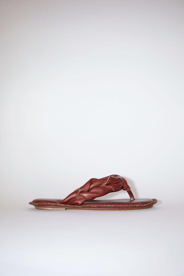 Acne Studios Leather sandals Chestnut brown