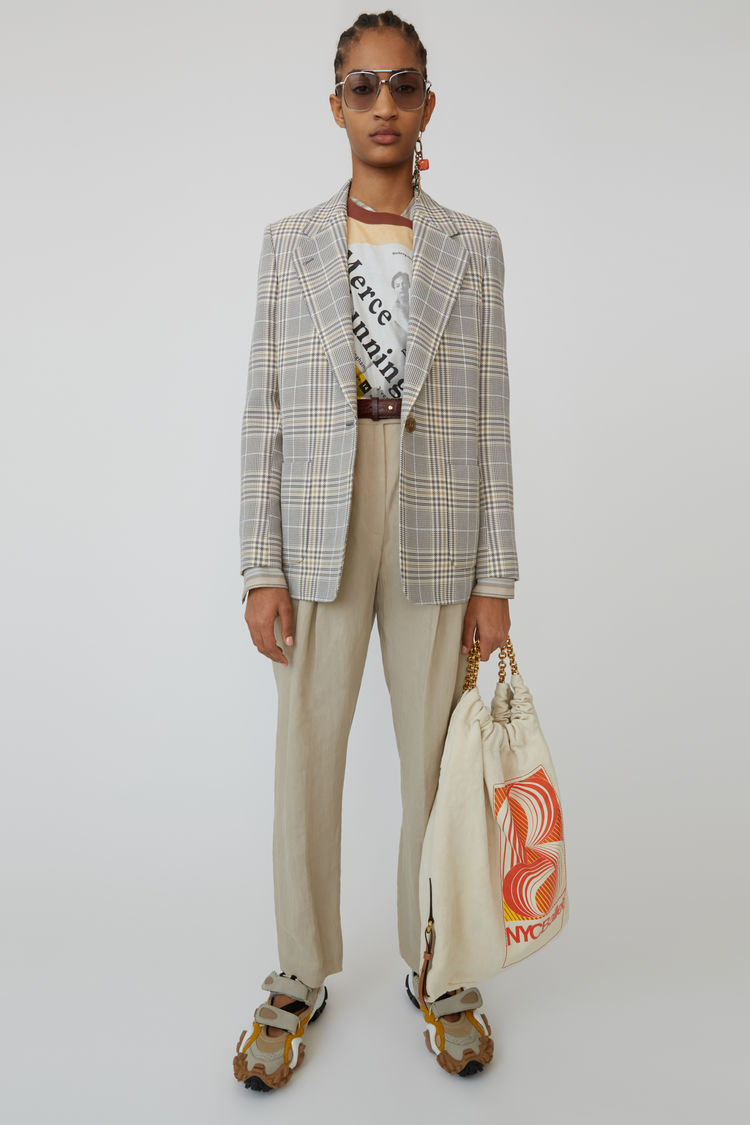 Plaid Blazer Grey/Beige by Acne Studios