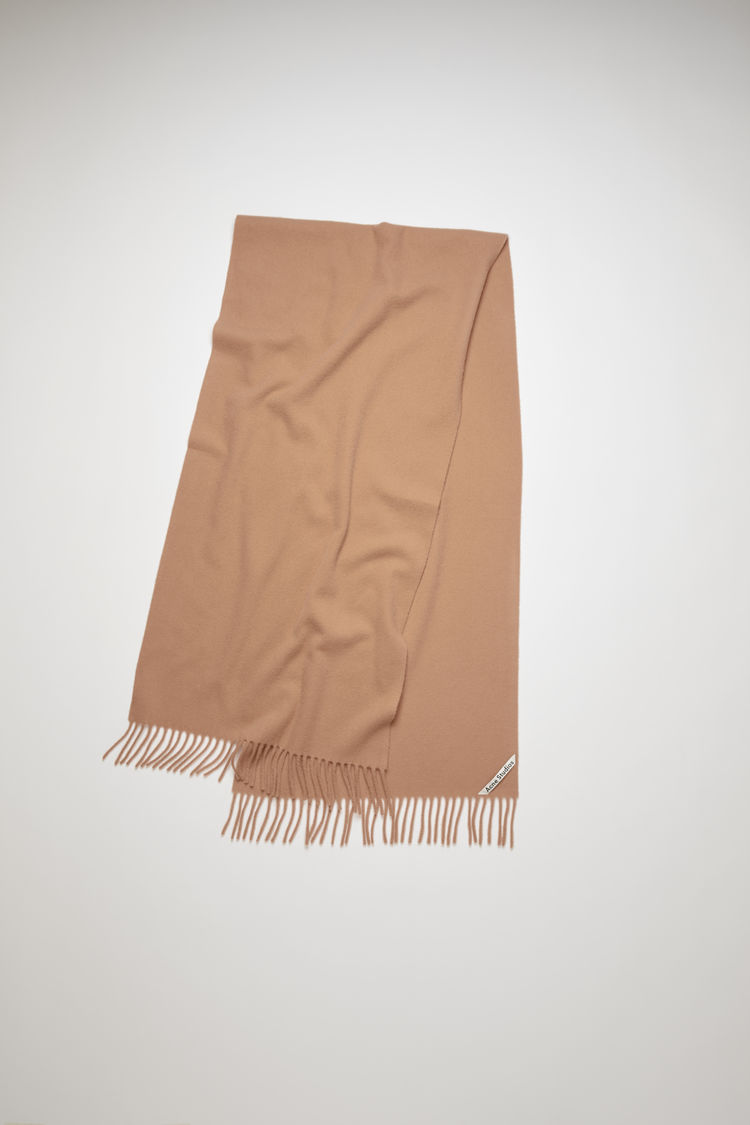 Narrow Fringed Scarf Caramel Brown by Acne Studios