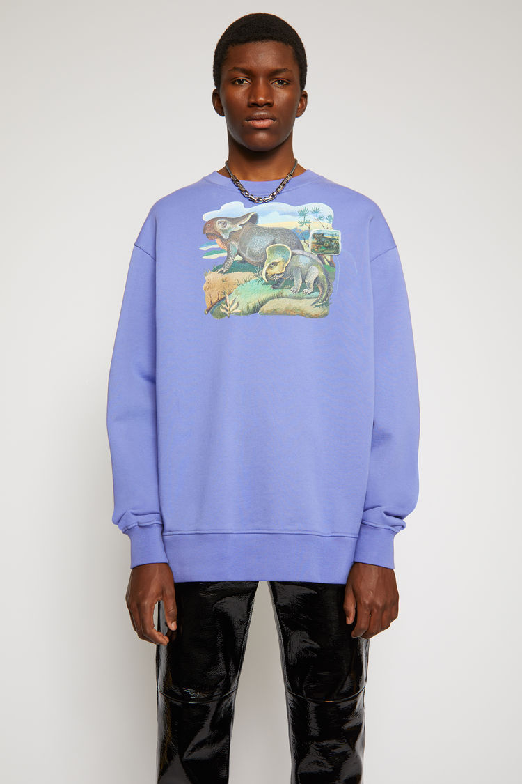 Acne Studios Dinosaur print sweatshirt Dusty purple