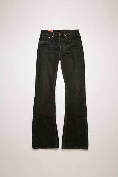 Acne Studios 1992F Vintage Black jeans are crafted from rigid denim that's faded and whiskered to give a time-worn appeal. They're cut to a relaxed, bootcut silhouette with a high-rise waist and finished with a concealed button placket.