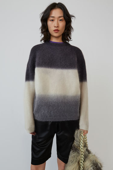 Acne Studios FN-WN-KNIT000211 Charcoal/off-white/grey 375x