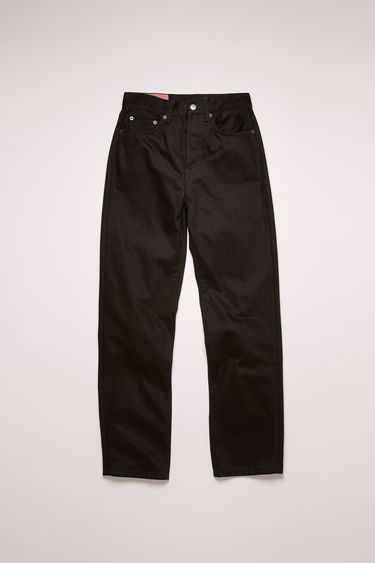 Acne Studios Mece Stay Black jeans are crafted from rigid denim and shaped to sit high on the waist before falling into cropped, straight legs.