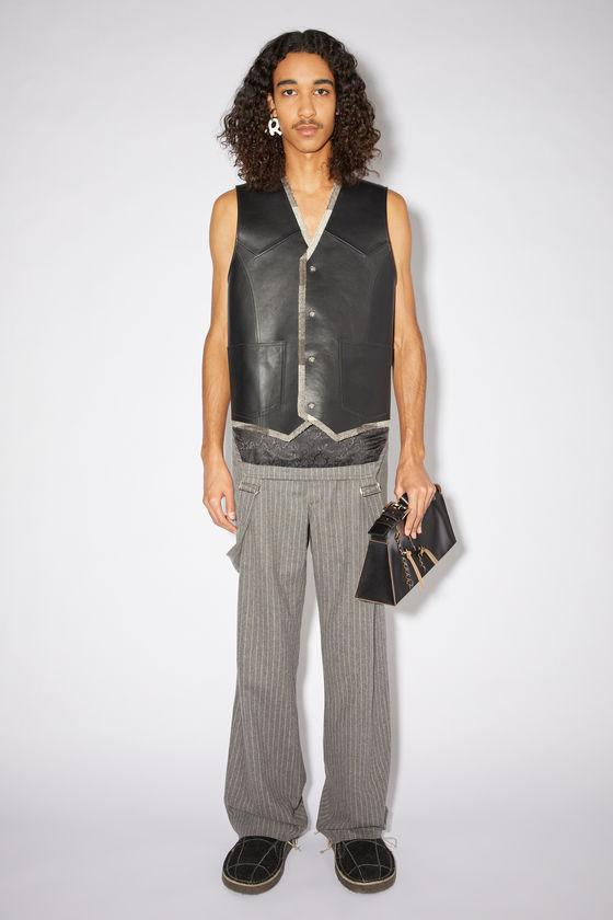 아크네 스튜디오 조끼 Acne Studios Leather vest - Black/brown