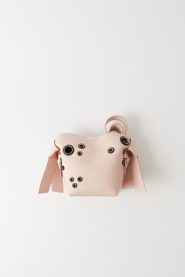 Leather goods Musubi Mini Eyelet Powder pink/black 375x