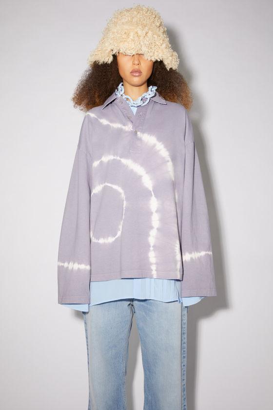 아크네 스튜디오 폴로 셔츠 Acne Studios Tie dye polo shirt - Thistle purple