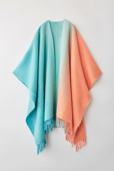Accessories Kelow Dye Poncho Peach/sky 375x