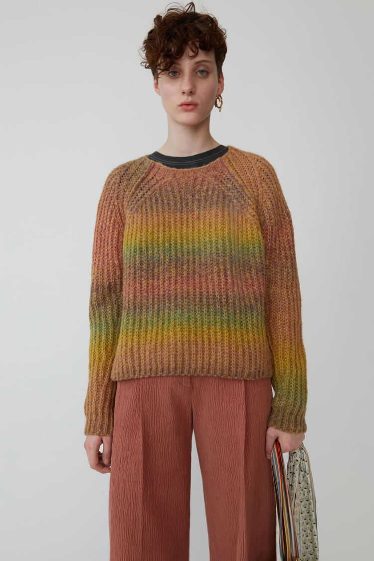 50c24fd8d8f Acne Studios - OmbrZ striped sweater Yellow pink
