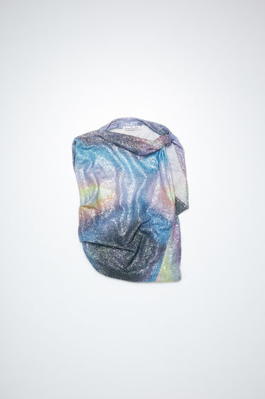 Acne Studios multi sleeveless shirt is made of a glittering, structured polyester. In collaboration with Benn Quinn.