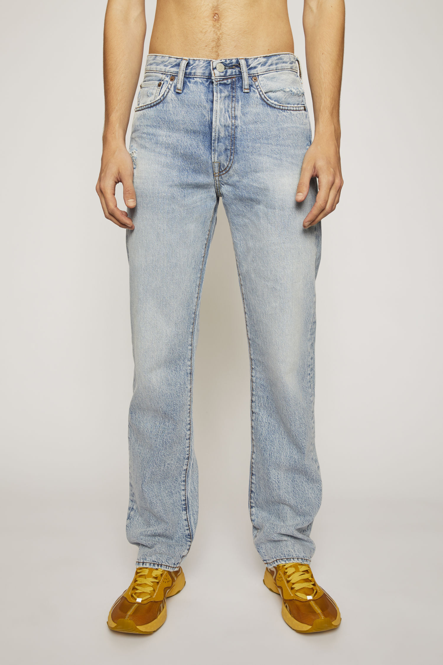 Straight Fit Jeans Light Blue