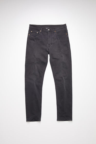 Acne Studios River Used Blk jeans are crafted from comfort stretch denim that's lightly faded and whiskered for a worn-in look. They're shaped to sit high on the waist before falling into slim, tapered legs.