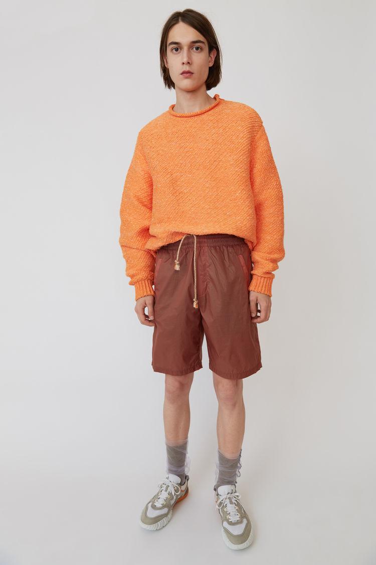 Nylon Shorts Ginger Orange by Acne Studios