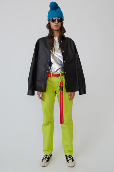 Acne Studios Blå Konst 1997 Reactive Dye Lime Green jeans are cut to sit high on the waist and shaped for a straight fit.