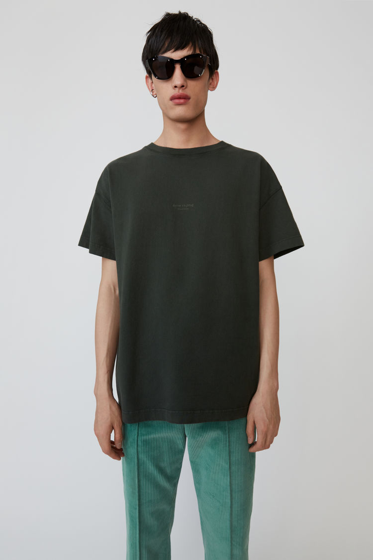 Oversized T Shirt Deep Green by Acne Studios