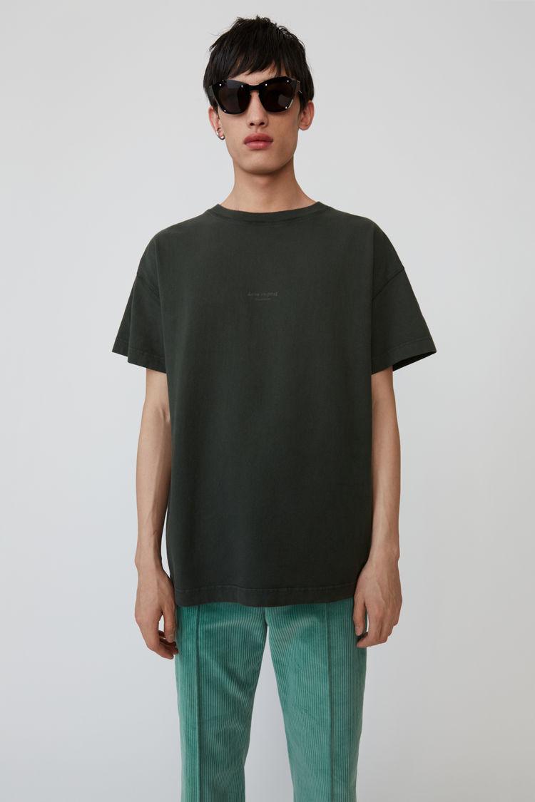Oversized T Shirt Deep Green by Acne Studios