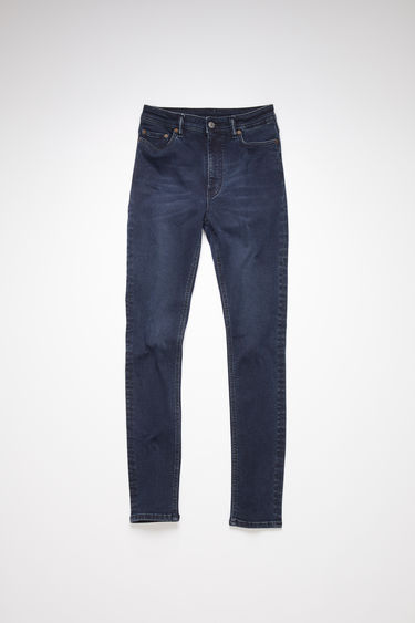 Acne Studios blue black jeans are made from super stretch denim with a high rise and a skinny leg.