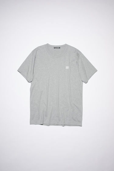 Acne Studios black crew neck t-shirt is made from cotton with a regular fit and a face logo patch.