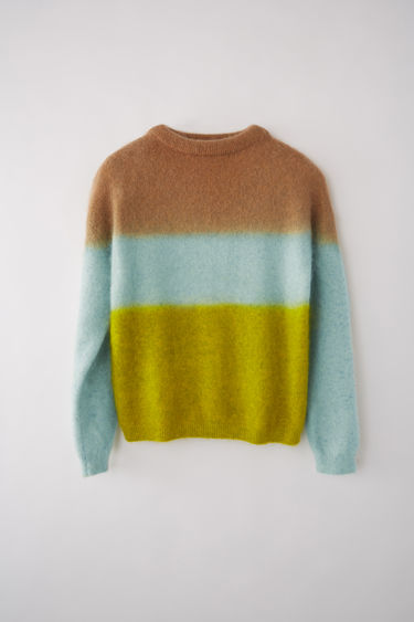 Acne Studios FN-WN-KNIT000211 Brown/light blue/yellow 375x