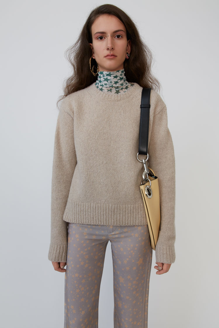 Crewneck Sweater Cold Beige by Acne Studios