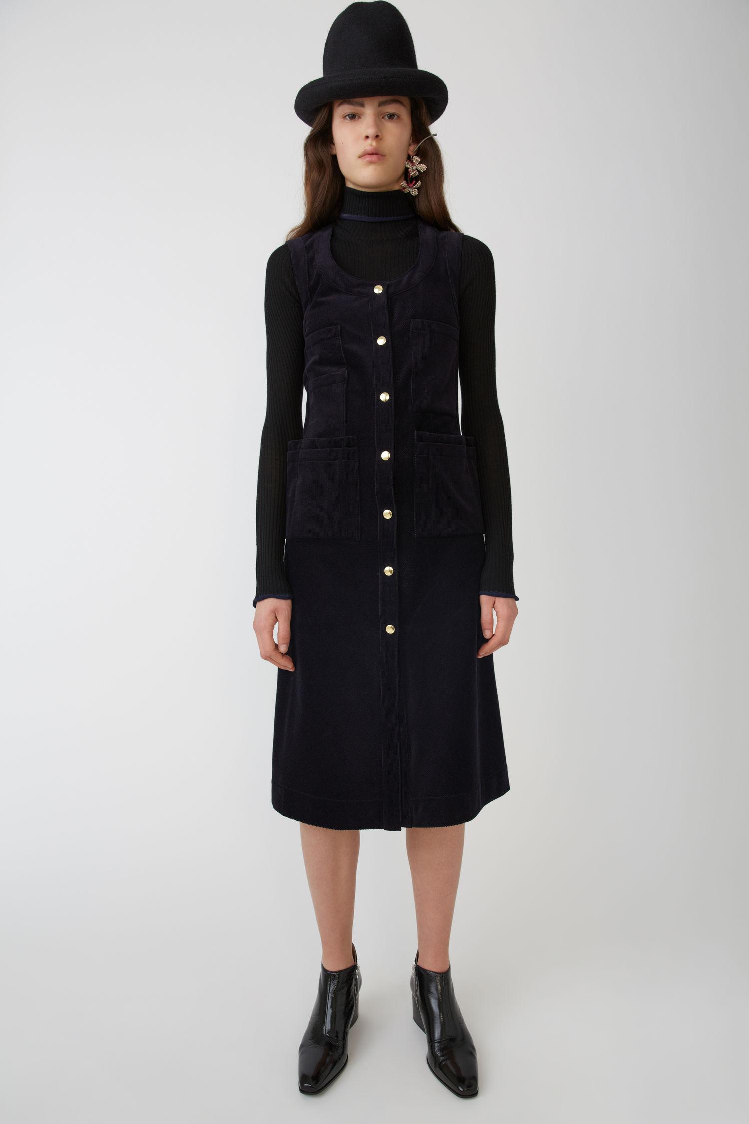 ACNE STUDIOS Corduroy dress navy