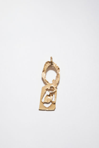 Acne Studios pendant is crafted from a hammered gold-tone brass and features a stencil of the letter 'Q'  The pendant can be personalised with a chain necklace.