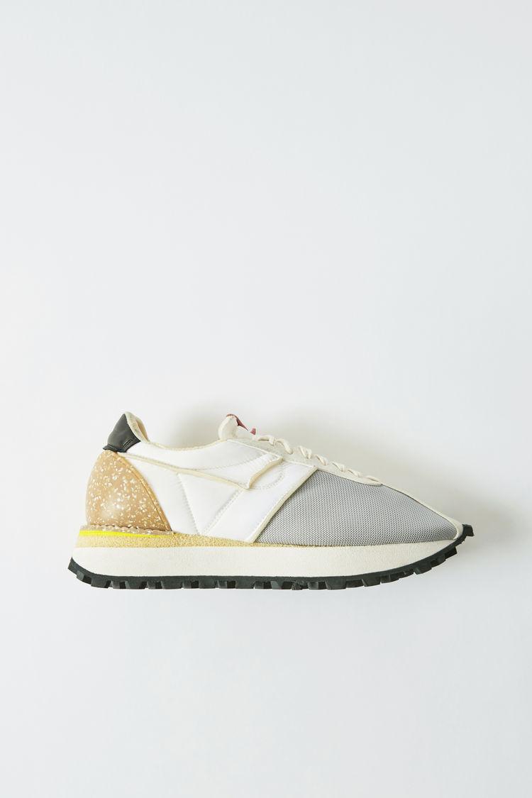Sneakers InEinem Materialmix Grau/Weiß/Weiß by Acne Studios