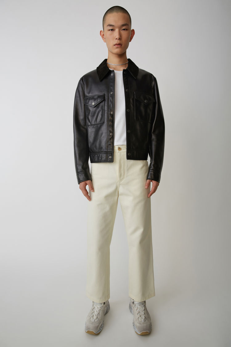 Workwear Trousers Ivory White by Acne Studios